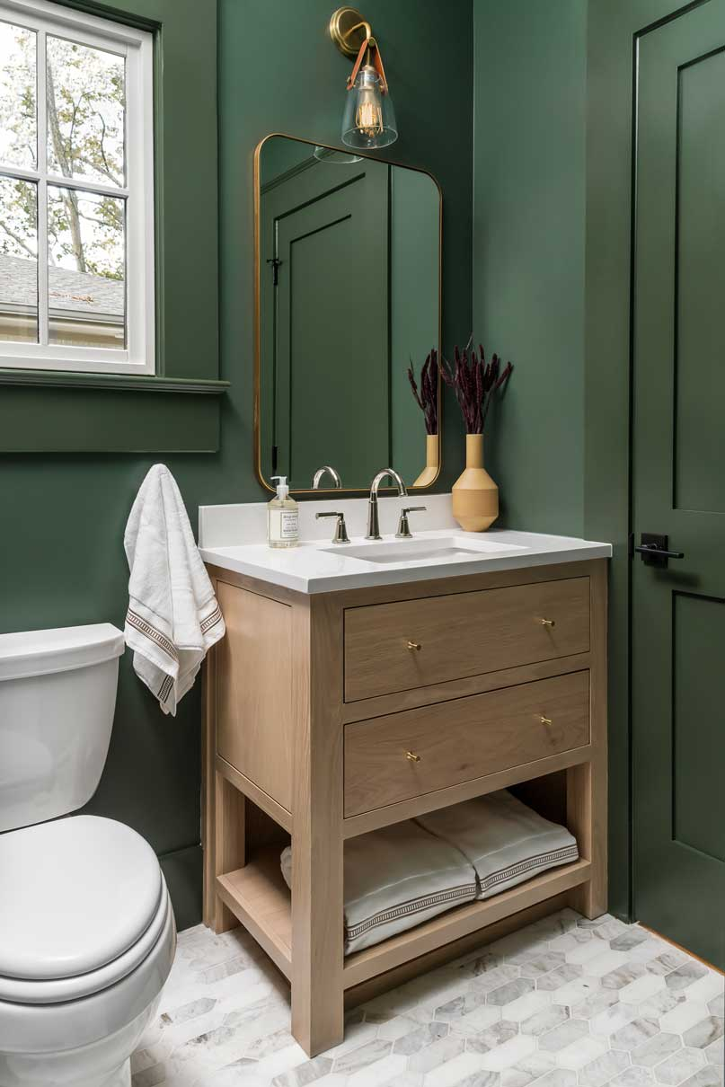 Green Bathroom, Taste-ful Interiors, Decatur GA